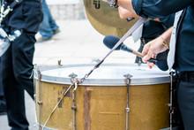 Bass Drum Band Musician Walkin...