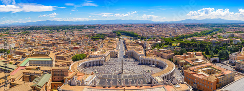 In de dag Rome Rome and Vatican panorama city skyline, Vatican, Rome, Italy