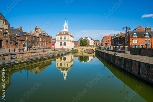 Foto View of the old custom house at King's Lynn, Norfolk, UK