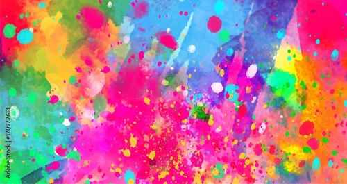 Fototapeta Abstract background of color stains of paints obraz