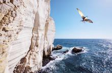 Rosh Hanikra Cliff Near Israeli- Lebanese Border
