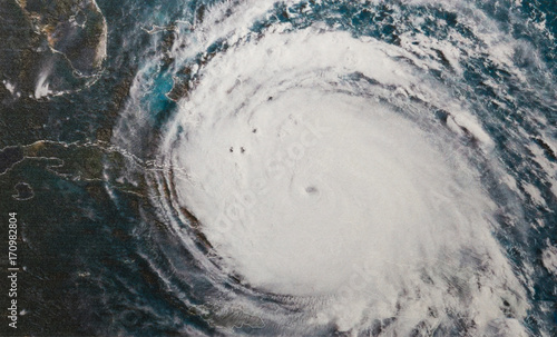 Canvas Prints Nasa infrared image of Hurricane Irma in the Bahamas. Elements of this image furnished by NASA.