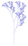 Flat Vector Computer Generated  L-system Branching Fractal - Generative Art   - 170991050