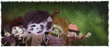 Niños Zombi En Halloween