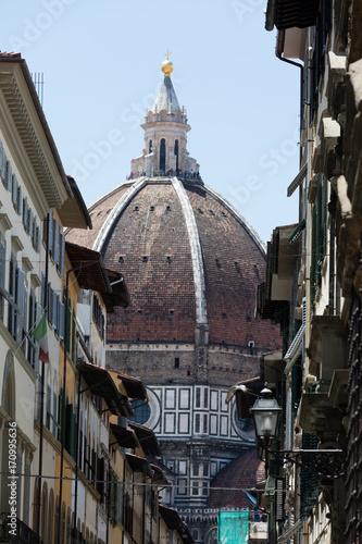 Poster Smal steegje Florence, historical center