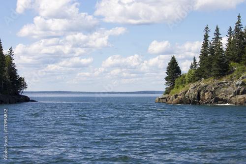 Fotografie, Obraz  Atlantic Ocean and Acadia National Park in Maine, USA