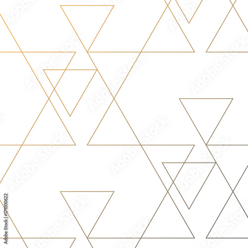 linear triangle vector pattern with big and small triangle connected each Canvas Print