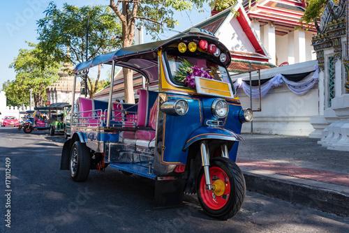Obraz na plátne タイのトゥクトゥク