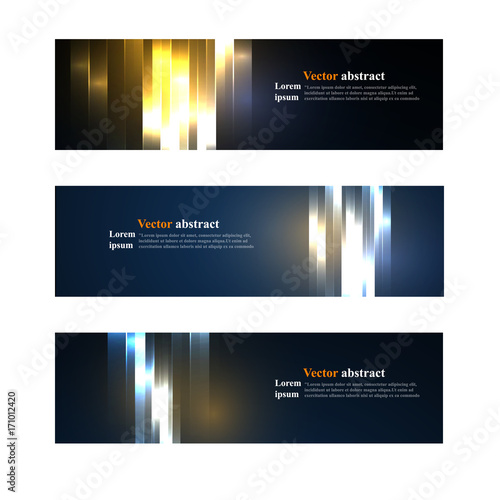Fototapeta Website header or banner set abstract obraz