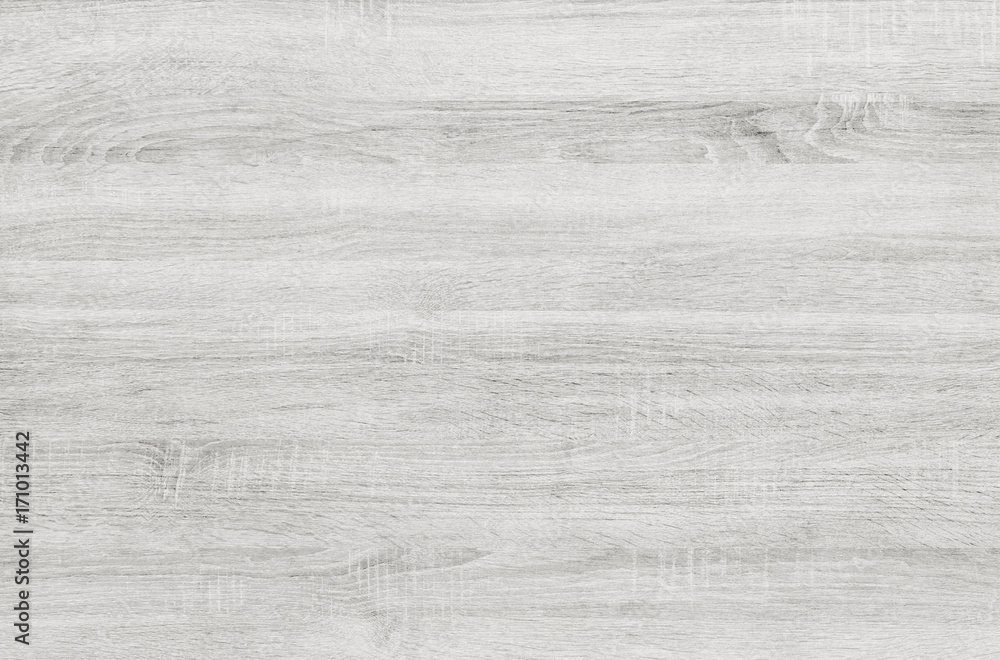 Fototapety, obrazy: White washed soft wood surface as background texture