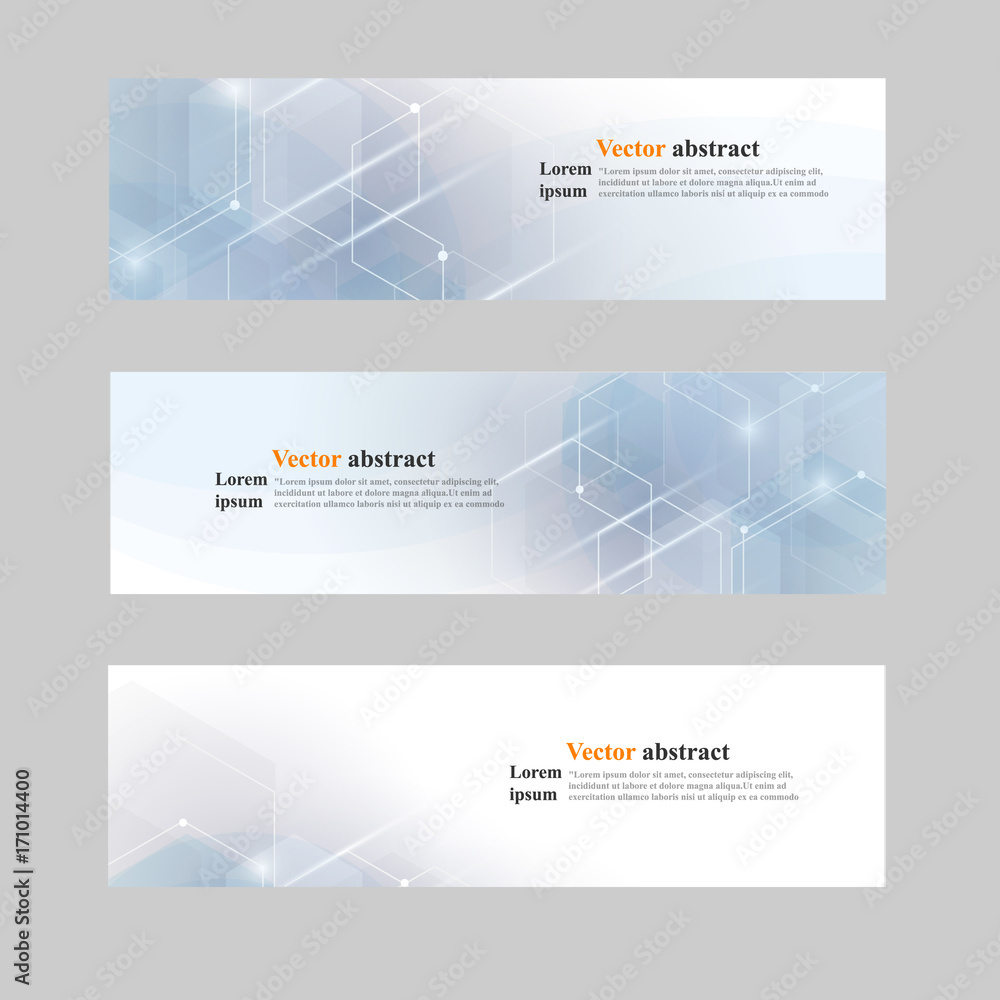 Fototapeta Website header or banner set abstract