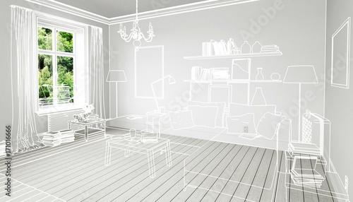 Bucher Im Wohnzimmer Einrichtung Und Dekoration Konzeption Buy