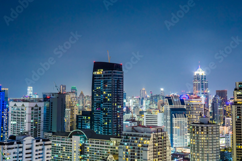 Foto op Aluminium New York 都市、夜景、ビル群