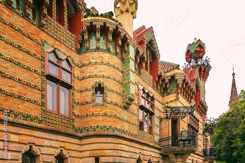 Capricho de Gaudi, Comillas, Cantabria, España Fototapet
