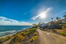 Sun Shining Over Malibu Shoreline