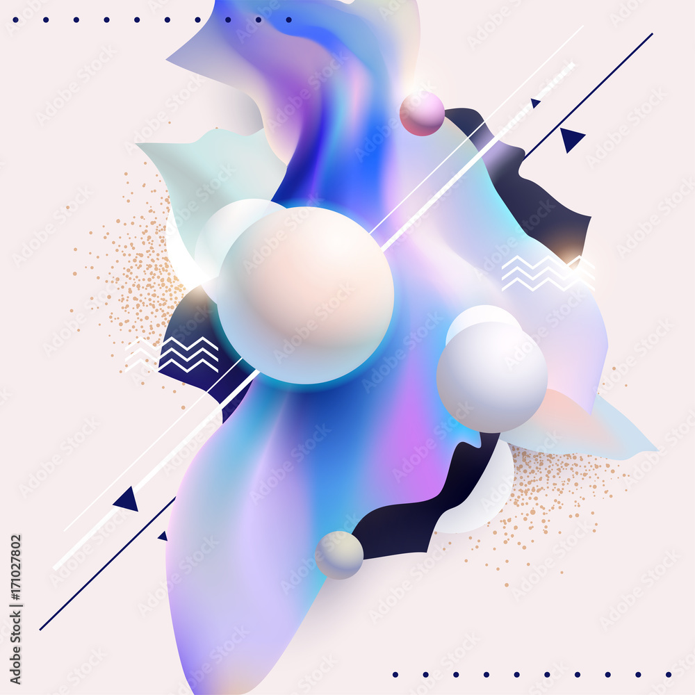 Fluid Poster Design Abstract Color Template Foto Poster
