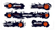 Design For Basketball. Set Pos...