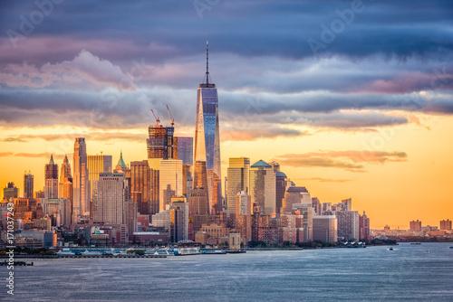 Keuken foto achterwand New York New York City Dawn on the Hudson River.