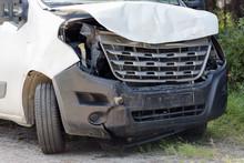 Crashed Van Front View