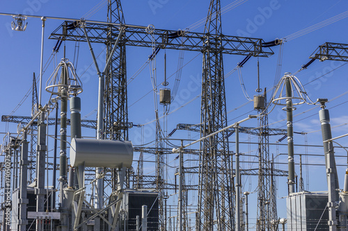 Fotografie, Obraz  Dangerous High Voltage Electrical Power Substation IV
