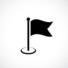 Flag Silhouette Vector Icon