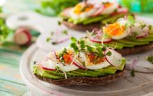 Open Sandwiches With Avocado A...