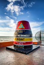 The Key West Buoy Sign Marking...