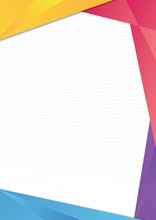 Colorful Gradient Triangle Frame Border. EPS10 Vector Template