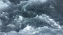 Over Head Shot Of Rain Cloud ;...