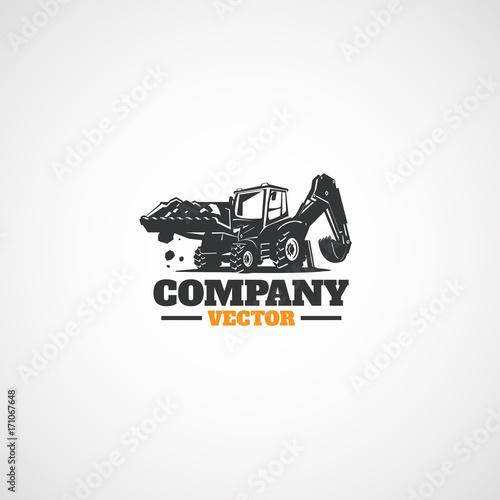 Photo Construction Backhoe Tractor.