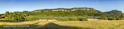 Poster Miel panoramic landscape in french Jura region at Le Frasnois