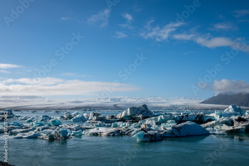 Foto op Plexiglas Arctica Beautiful view of Jokulsarlon lagoon