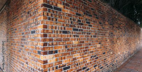 Recess Fitting Brick wall Red brick wall