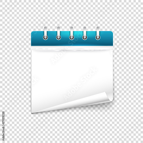 Paper diary on transparent background vector mockup. Template for a ...