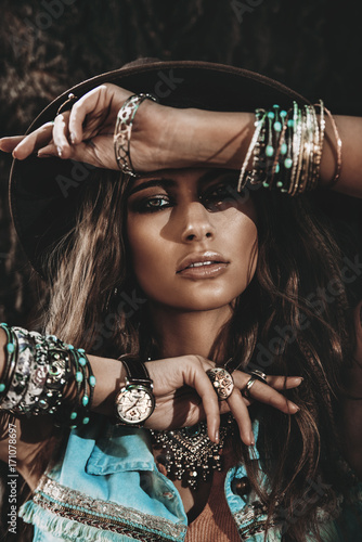 Photo sur Aluminium Gypsy jeans and boho