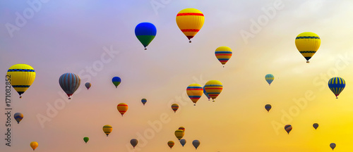 hot-air balloons Sunrise Adventure background travel
