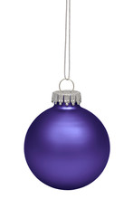 Purple Christmas Bauble Isolat...