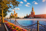 st. basil's cathedral and spassky tower on Red Square