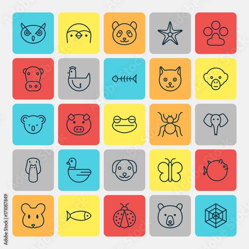 Fotografie, Obraz  Animal Icons Set