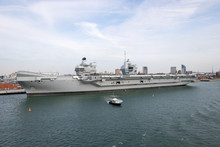 Aircraft Carrier In Port