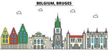 Belgium, Bruges. City Skyline:...