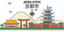 Japan, Kyoto. City Skyline: Ar...