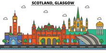 Scotland, Glasgow. City Skylin...