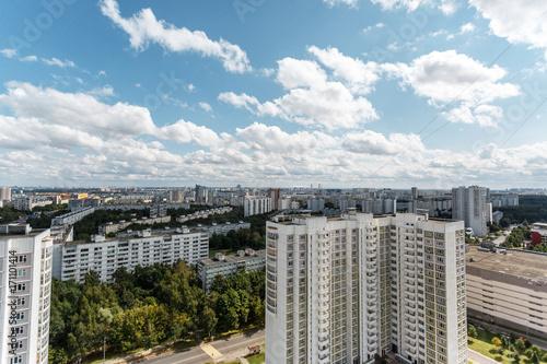 Papiers peints Paris Moscow district summer aerial view