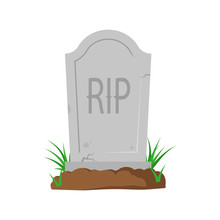 Tombstone Art. Vector. Isolated.