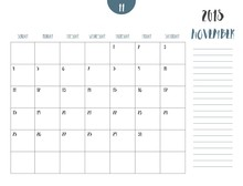 Vector Of Calendar 2018 ( November ) In Simple Clean Table Style With Note Line In Earth Tone Color Theme,full Size 21 X 16 Cm,Week Start On Sunday