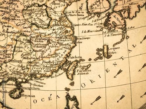 Plakat Stara mapa Azja Wschodnia