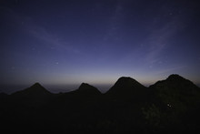 The Beautiful Night Sky With The Starry Light At Doi Luang Chiang Dao In Chiang Mai Province In Thailand.