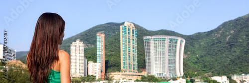 Fototapeta Real estate apartment condo buildings cityscape
