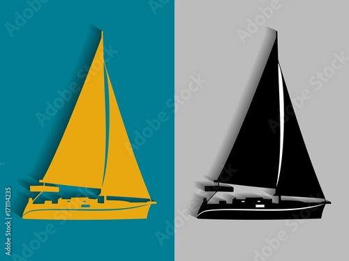 jacht-ilustracja